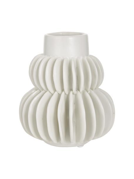 Vaso bianco in gres Bela, Gres, Bianco, Ø 12 x Alt. 14 cm
