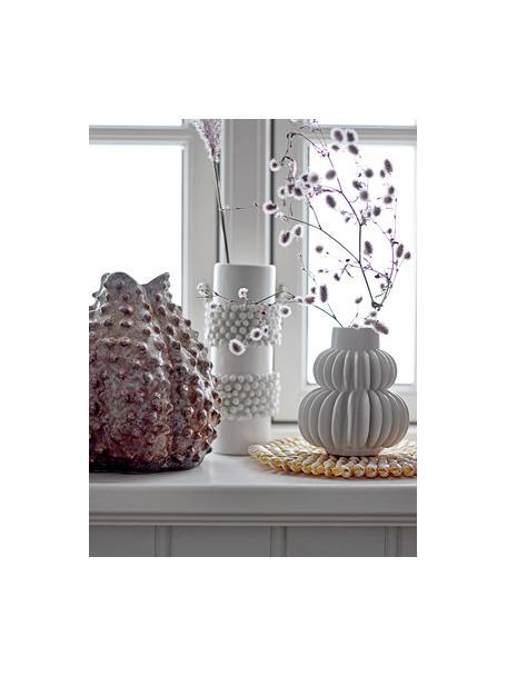 Kleine vaas Bela van keramiek, Keramiek, Wit, Ø 12 x H 14 cm