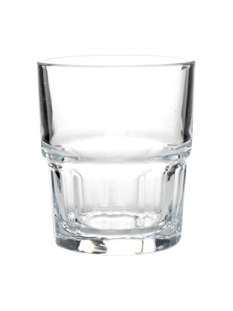 Stapelbare Wassergläser Next, 12 Stück, Glas, Transparent, Ø 7 x H 8 cm