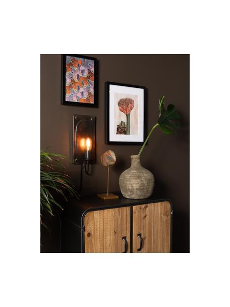 Wandlamp Brody, Lamp: gepoedercoat metaal, Donkerbruin, 16 x 38 cm