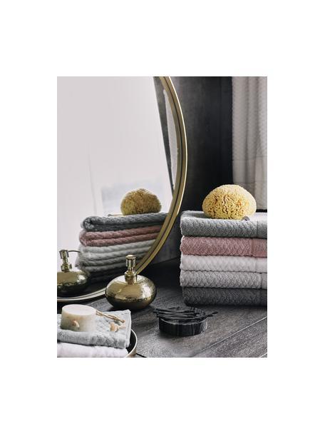 Set de toallas texturizada Katharina, 3pzas., Gris oscuro, Set de diferentes tamaños