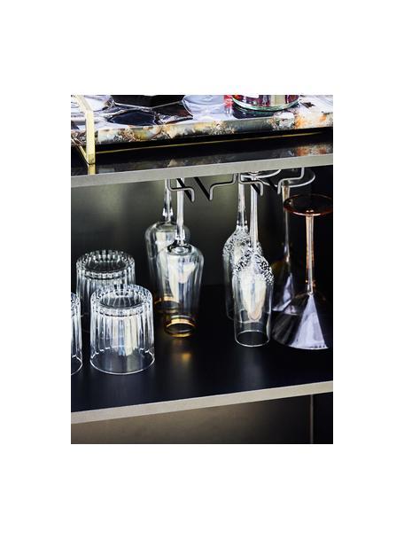 Copas flauta de champán de vidrio soplado artesanalmente con burbujas Smoke, 4uds., Vidrio soplado artesanalmente, Transparente con burbujas de aire, Ø 7 x Al 25 cm