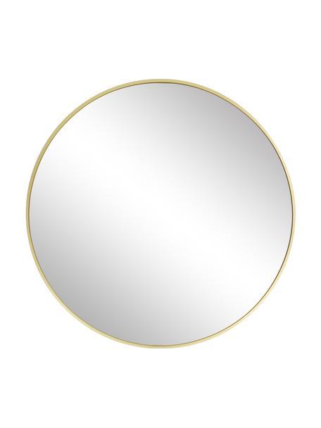 Espejo de pared redondo Ida, Espejo: cristal, Parte trasera: tablero de fibras de dens, Dorado, Ø 55 cm