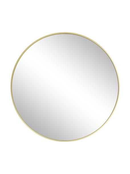 Runder Wandspiegel Ida mit Goldrahmen, Rahmen: Aluminiumlegierung, Spiegelfläche: Spiegelglas, Rückseite: Mitteldichte Holzfaserpla, Gold, Ø 55 cm