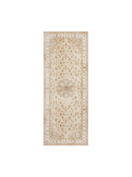 Loper Nain in Oosterse stijl, 100% polysulfonen (PES), Geel, beigetinten, 80 x 200 cm
