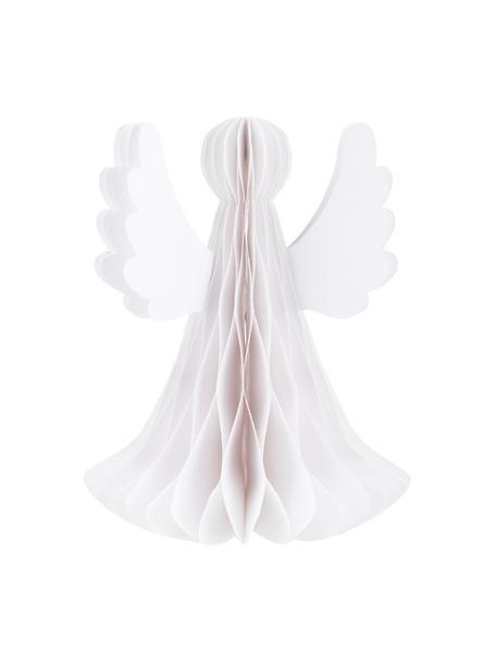 Plissee Engel Angel H 27 cm, Papier, Weiß, Ø 21 x H 27 cm