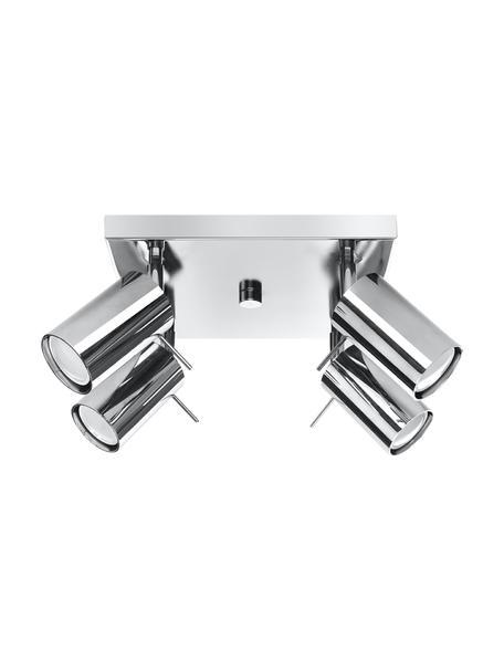 Faretti da soffitto in cromo Etna, Paralume: acciaio cromato, Baldacchino: acciaio cromato, Cromo, Larg. 25 x Alt. 15 cm