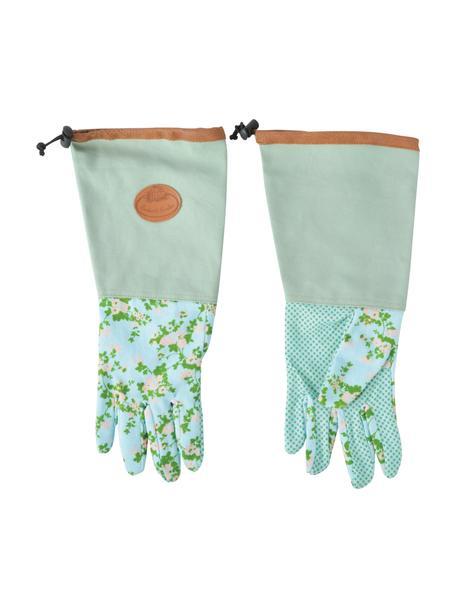 Garten-Handschuhe Rose, Polyester, Baumwolle, PVC, PU, Mehrfarbig, 18 x 38 cm