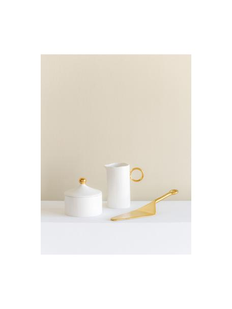 Suikerpot Good Morning, Beenderporselein, Wit, goudkleurig, Ø 10 x H 9 cm
