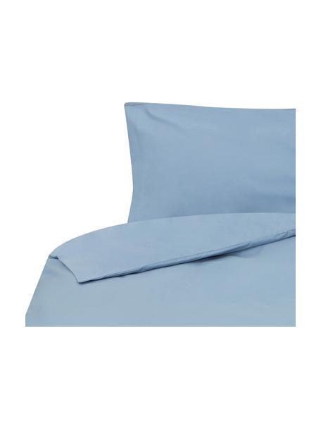 Funda nórdica Plain Dye, Algodón El algodón da una sensación agradable y suave en la piel, absorbe bien la humedad y es adecuado para personas alérgicas, Azul vaquero, Cama 90 cm (160 x 220 cm)