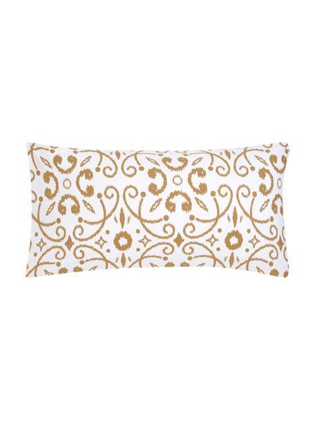Baumwoll-Kopfkissenbezüge Ashley in Senfgelb/Weiß, 2 Stück, Webart: Renforcé, Weiß, Senfgelb, 40 x 80 cm