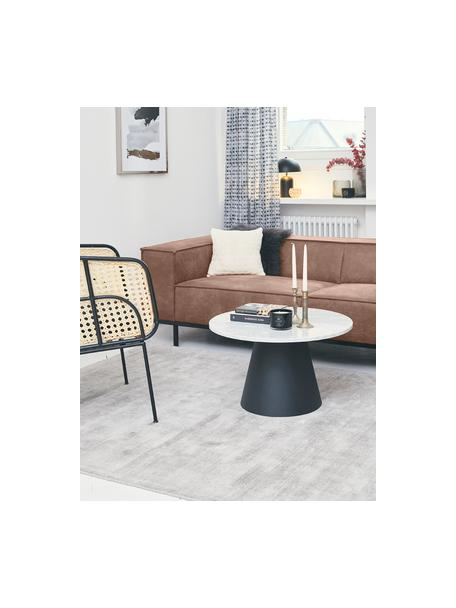 Sofa ze skóry z metalowymi nogami Abigail (3-osobowa), Tapicerka: skóra naturalna (70% skór, Nogi: metal lakierowany, Brązowy, S 230 x G 95 cm