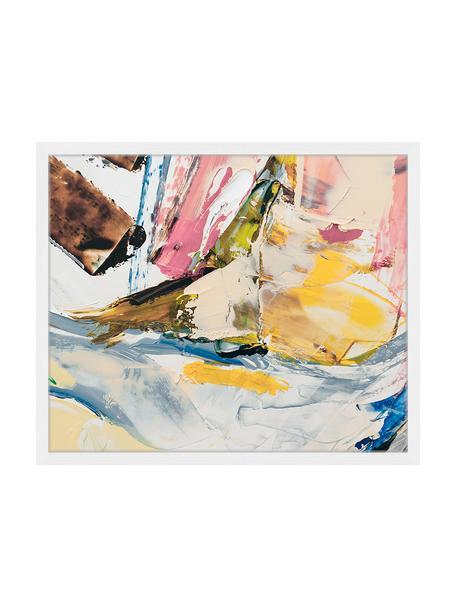 Gerahmter Digitaldruck Abstract Art III, Bild: Digitaldruck auf Papier, , Rahmen: Holz, lackiert, Front: Plexiglas, Mehrfarbig, 63 x 53 cm