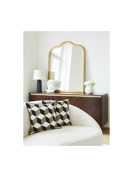 Specchio da parete barocco Muriel, Struttura: legno massiccio ricoperto, Superficie dello specchio: vetro a specchio, Retro: metallo, pannello di fibr, Oro, Larg. 90 x Alt. 120 cm