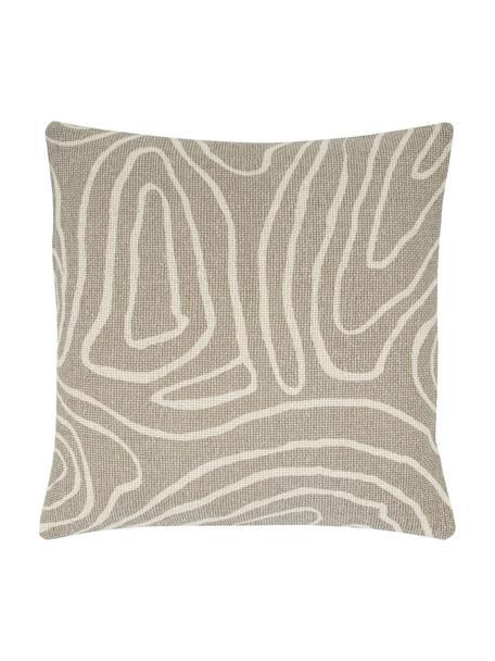 Poszewka na poduszkę Nomad, 100% bawełna, Beżowy, kremowobiały, S 45 x D 45 cm