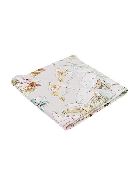 Runde Baumwoll-Tischdecke Angelina mit Blumenmotiv, 100% Baumwolle, Mehrfarbig, Ø 170 cm