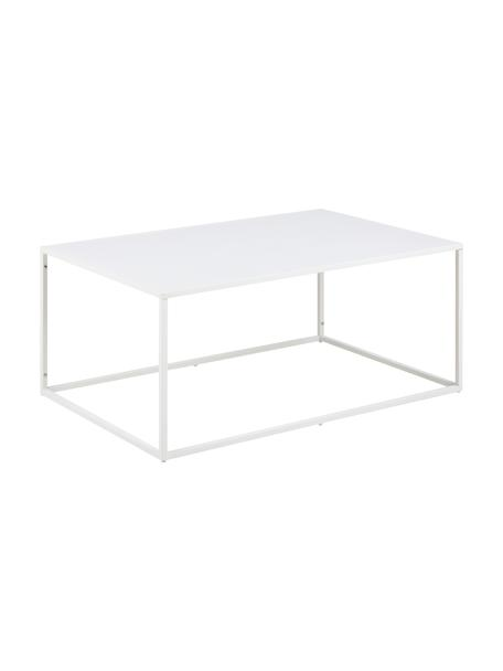 Mesa de centro de metal Newton, Metal con pintura en polvo, Blanco, An 90 x Al 40 cm
