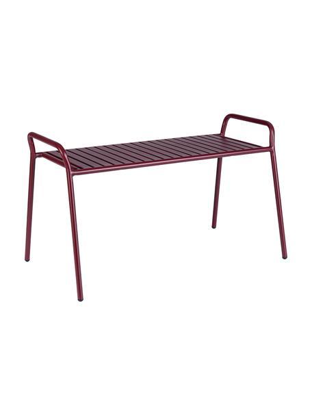Zitbank Dalya, Gepoedercoat staal, Bordeauxrood, 88 x 51 cm