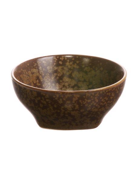 Handgemachte Snackschalen Yunomi im japanischen Style, 4 Stück, Porzellan, Braun, Ø 8 x H 4 cm