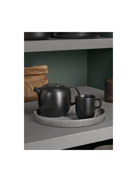 Tazas de café Nordic Kitchen, 4uds., Gres, Negro, 300 ml