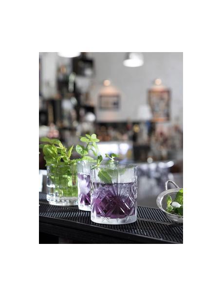 Kristallen glazen Bichiera met reliëf, 4-delig, Kristalglas, Transparant, Ø 8 x H 9 cm