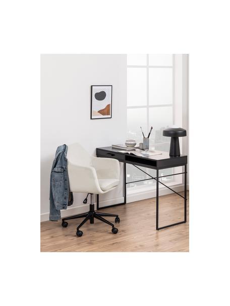 Silla giratoria de oficina de terciopelo Nora, Tapizado: poliéster (terciopelo) 25, Estructura: metal recubierto en polvo, Beige, negro, An 58 x F 58 cm