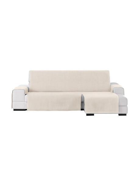 Copertura divano angolare Levante, 65% cotone, 35% poliestere, Beige, Larg. 150 x Lung. 290 cm
