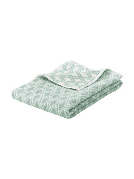 Dwustronny ręcznik Ava, różne rozmiary, Miętowozielony, kremowobiały, Ręcznik dla gości