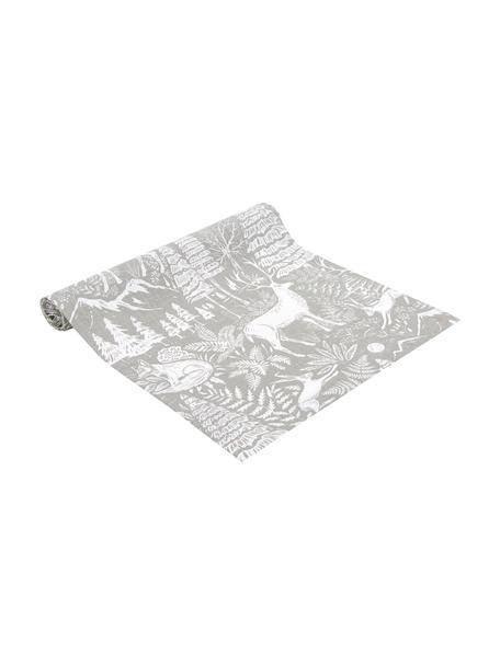 Camino de mesa Forest, 85%ramio, 15%algodón, Beige, crema, An 40 x L 145 cm