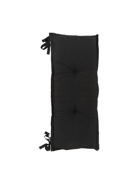 Effen bankkussen Panama in zwart, 50% katoen, 45% polyester, 5% andere vezels, Zwart, 48 x 120 cm
