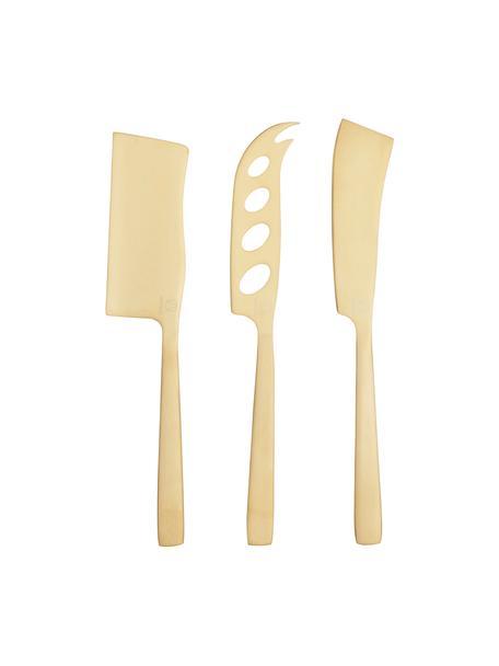 Set de cuchillos de queso Art, 3pzas., Acero inoxidable, recubierto, Latón, L 25 cm