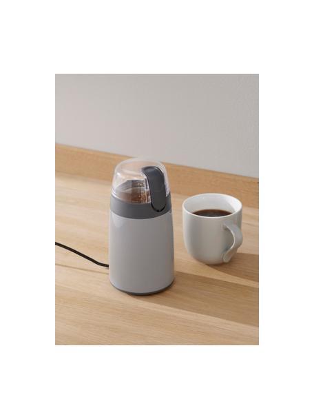 Kaffeemühle Emma in Grau glänzend, Grau, Ø 10 x H 19 cm