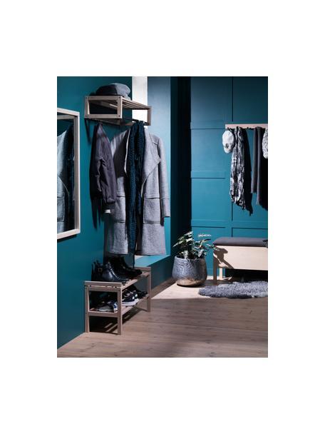 Zapatero Confetti, 2 estantes, Madera de roble maciza pintada, Roble blanqueado, An 80 x Al 40 cm
