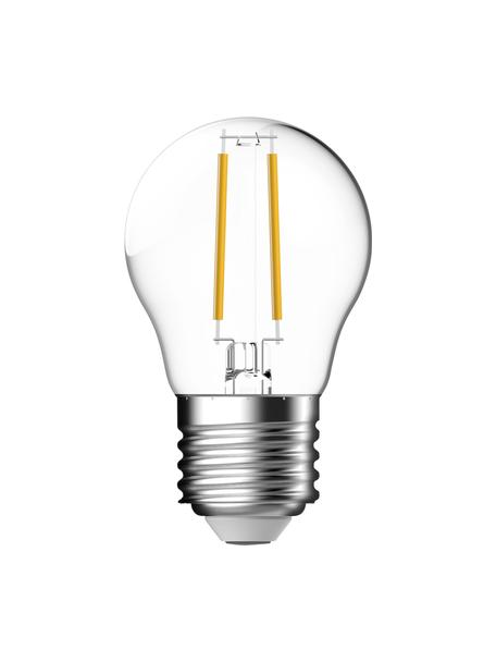 Bombilla E27 pequeña, regulable, 470lm, blanco cálido, 1ud., Ampolla: vidrio, Casquillo: aluminio, Transparente, Ø 4,5 x Al 8 cm
