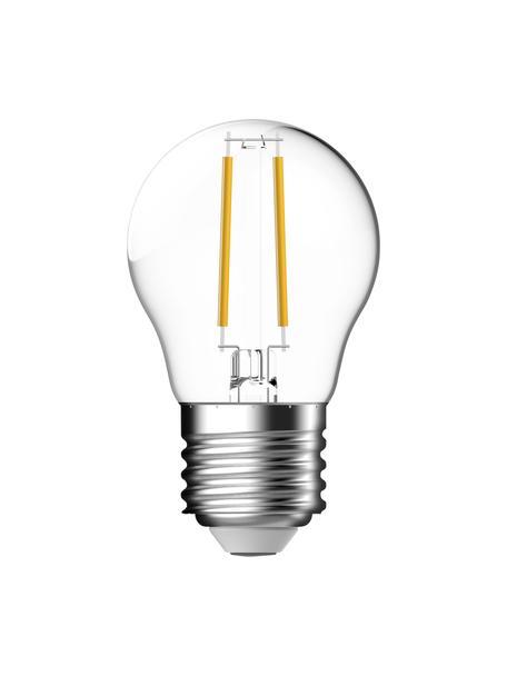 Kleine E27 peertje, 470lm, dimbaar, warmwit, 1 stuk, Lampenkap: glas, Fitting: aluminium, Transparant, Ø 4,5 x H 8 cm