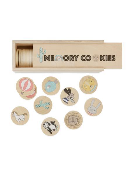 Memory-Set Cookies, 37-tlg., Birkenfunier, bedruckt, Holz, Mehrfarbig, 23 x 7 cm