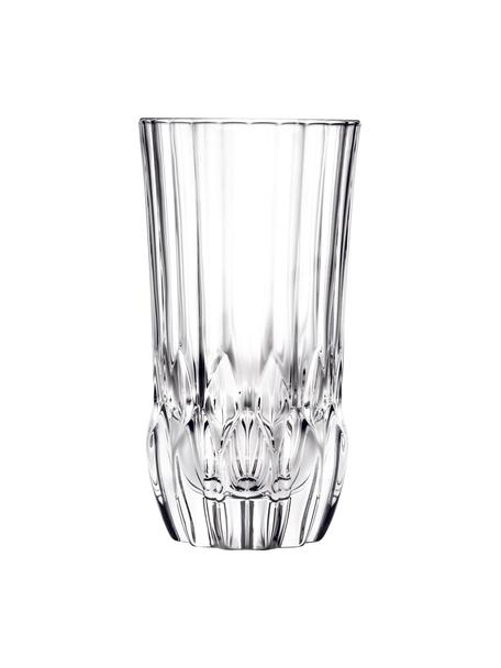 Kristallgläser Adagio mit Relief, 6 Stück, Kristallglas, Transparent, Ø 8 x H 15 cm