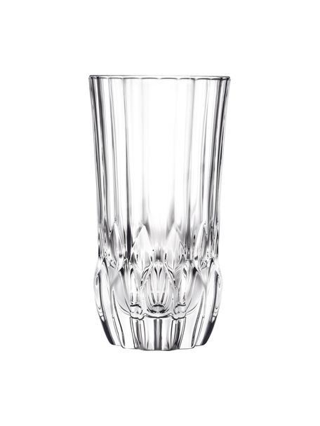 Szklanka ze szkła kryształowego Adagio, 6 szt., Szkło kryształowe, Transparentny, Ø 8 x W 15 cm