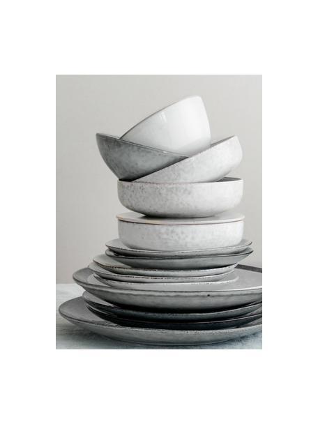 Ręcznie wykonana miska z kamionki Nordic, 4 szt., Kamionka, Odcienie piaskowego, Ø 17 cm