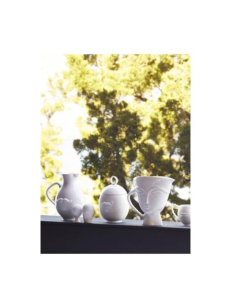 Designer flessenstoppen Muse, 2-delig, Keramiek, Wit, Ø 6 x H 13 cm
