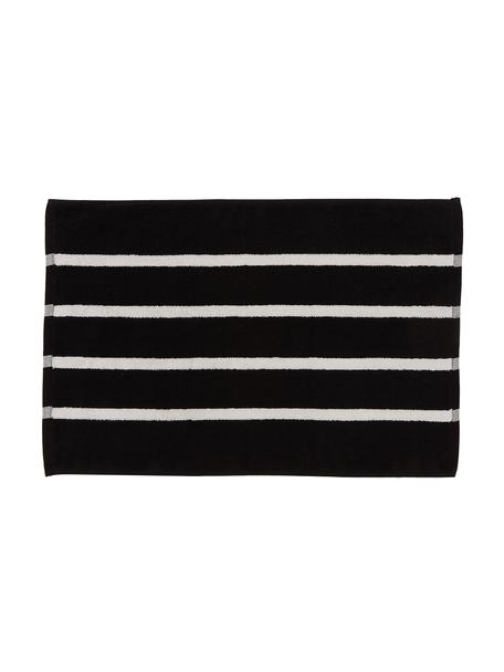 Alfombrilla de baño Menton, 100%algodón, Negro, blanco, An 50 x L 75 cm
