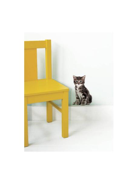 Wandsticker Zoe, Zelfklevende vinyl folie, mat, Bruin, zwart, beige, 13 x 20 cm