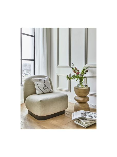 Tavolino rotondo in legno di mango Benno, Legno massiccio di mango verniciato, Legno di mango, grigio lavato, Ø 35 x Alt. 50 cm