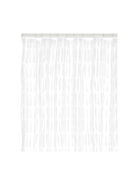 Tenda da doccia trasparente/bianca Zora, Eco-plastica (PEVA), privo di PVC Impermeabile, Trasparente, bianco, Larg. 180 x Lung. 200 cm