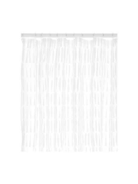 Zasłona prysznicowa Zora, Eko tworzywo sztuczne (PEVA), bez PVC Produkt wodoodporny, Transparentny, biały, S 180 x D 200 cm