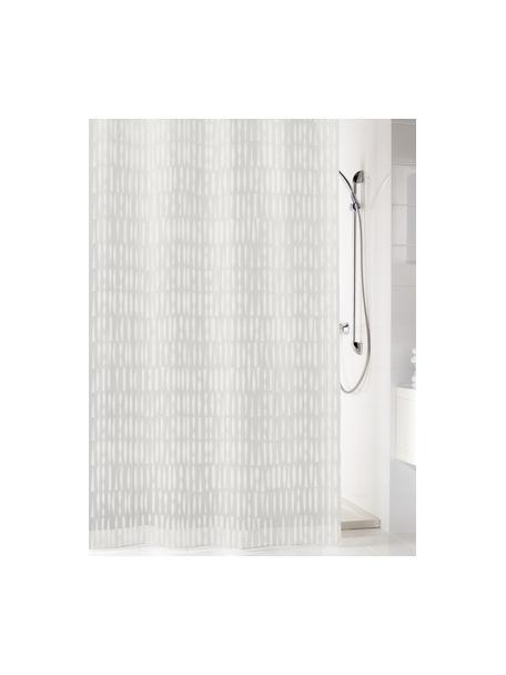 Duschvorhang Zora in Transparent/Weiß, Öko-Kunststoff (PEVA), frei von PVC Wasserdicht, Transparent, Weiß, 180 x 200 cm