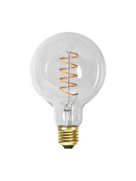 E27 Leuchtmittel, 4W, dimmbar, warmweiß, 1 Stück, Leuchtmittelschirm: Glas, Leuchtmittelfassung: Aluminium, Transparent, Ø 10 x H 14 cm