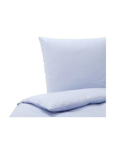 Baumwoll-Bettwäsche Weekend in Hellblau, 100% Baumwolle  Fadendichte 145 TC, Standard Qualität  Bettwäsche aus Baumwolle fühlt sich auf der Haut angenehm weich an, nimmt Feuchtigkeit gut auf und eignet sich für Allergiker., Hellblau, 135 x 200 cm + 1 Kissen 80 x 80 cm