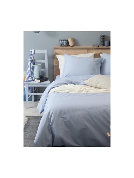 Pościel z bawełny Weekend, Jasny niebieski, 135 x 200 cm + 1 poduszka 80 x 80 cm