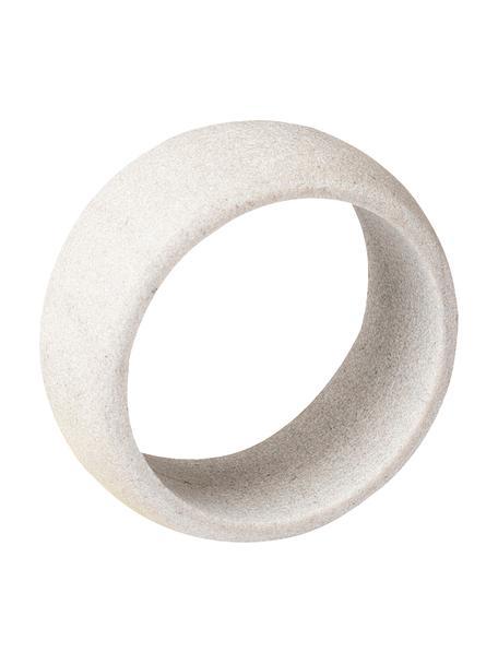Serviettenringe Kit aus hellem Sandstein, 6 Stück, Sandstein  Sandstein gehört zu den weichen Gesteinen und ist daher sehr zart und edel. Er benötigt Sorgfalt im Umgang., Heller Sandstein, Ø 5 x H 2 cm